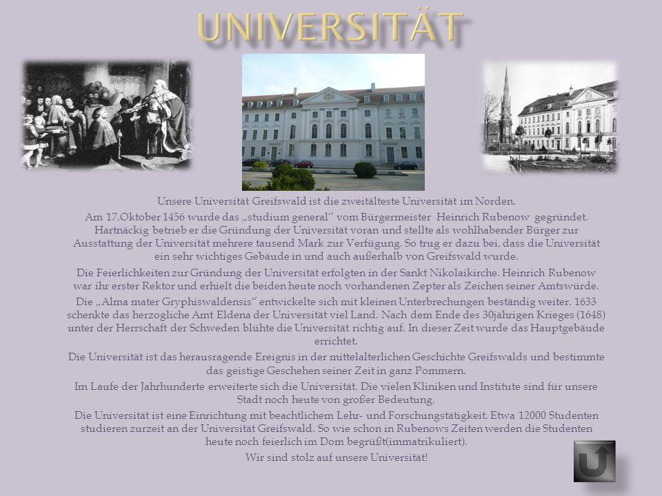 Wir sind stolz auf unsere Universität!