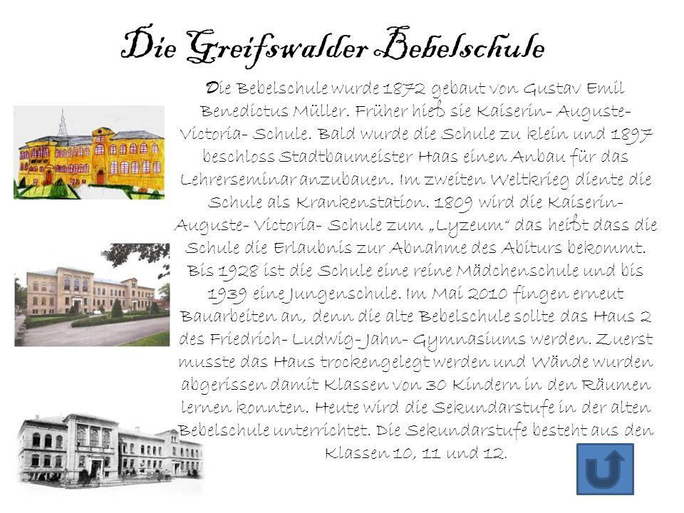 Die Greifswalder Bebelschule