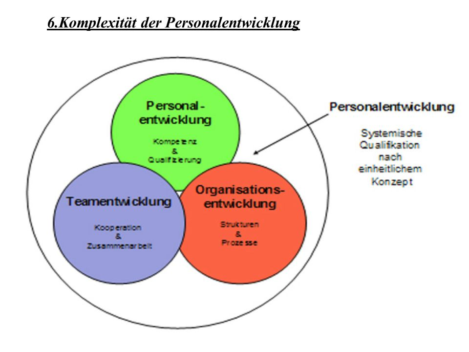 6.Komplexität der Personalentwicklung