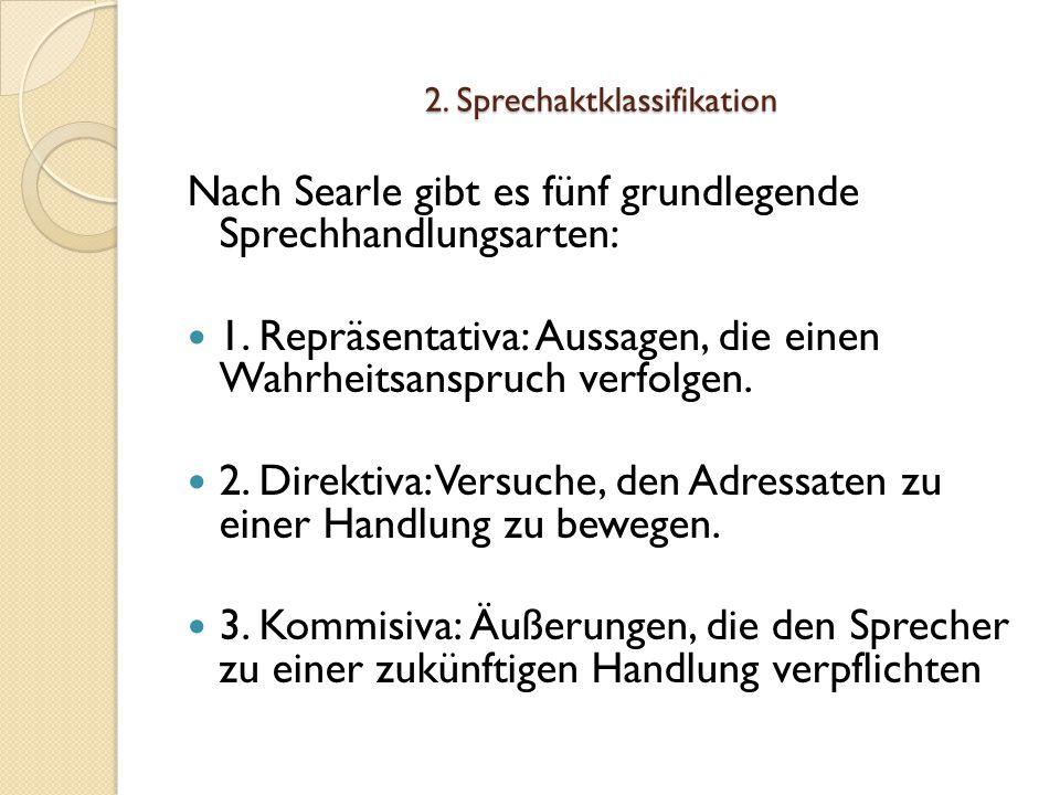 2. Sprechaktklassifikation