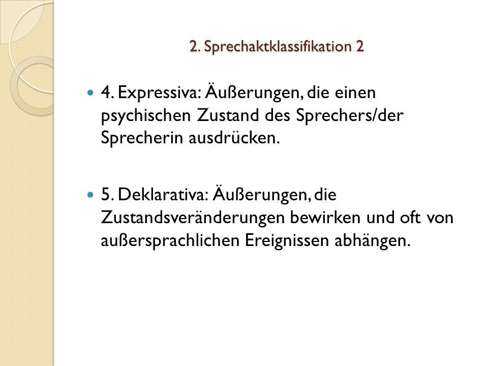 2. Sprechaktklassifikation 2