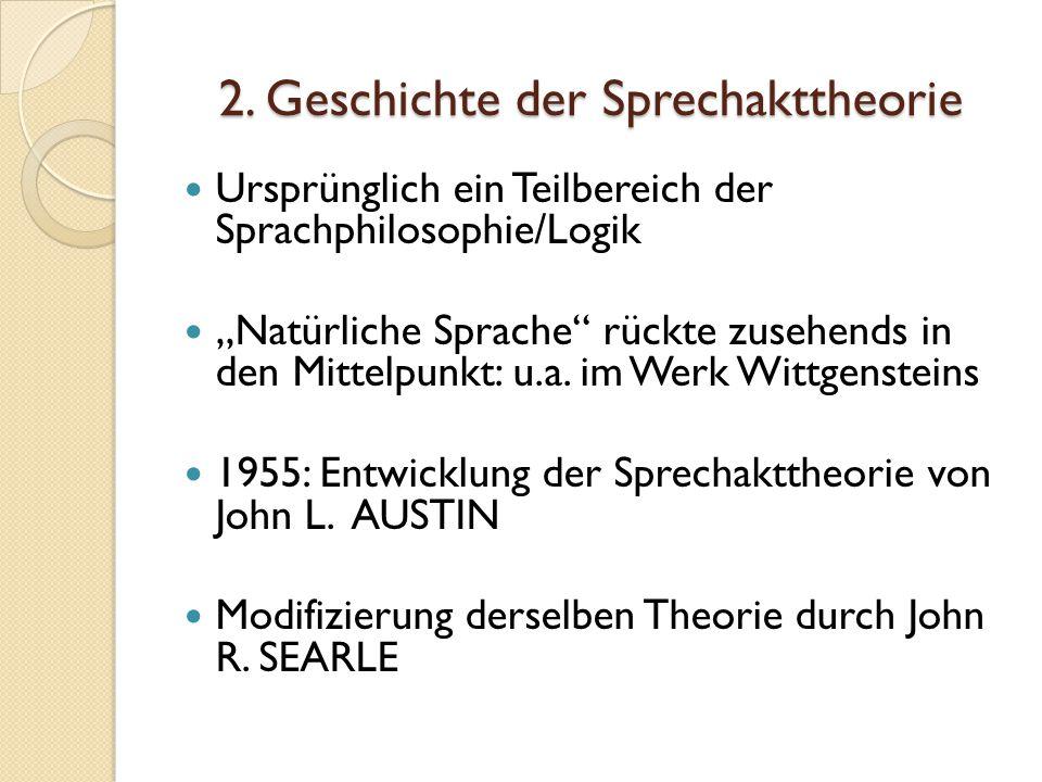 2. Geschichte der Sprechakttheorie