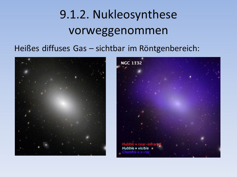 9.1.2. Nukleosynthese vorweggenommen