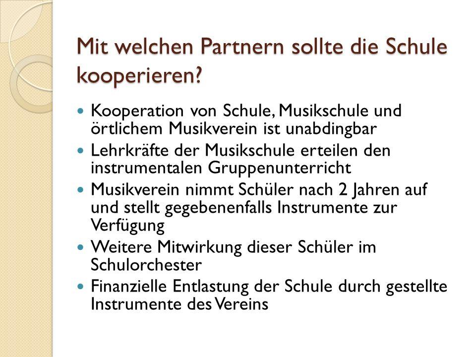 Mit welchen Partnern sollte die Schule kooperieren