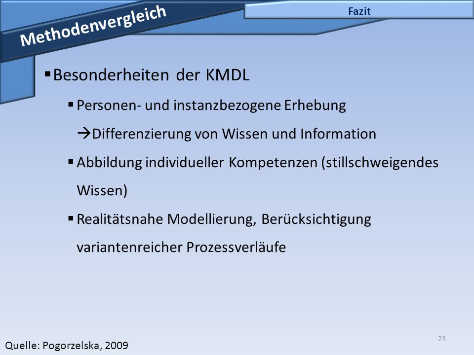 Besonderheiten der KMDL