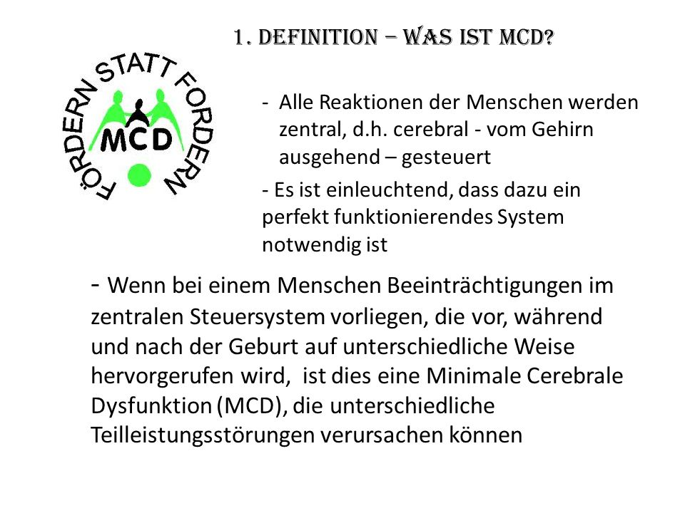 1. Definition – Was ist MCD