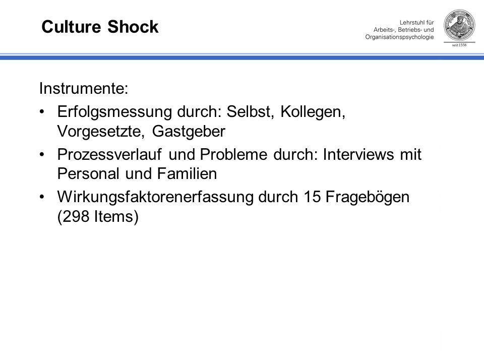Culture Shock Instrumente: