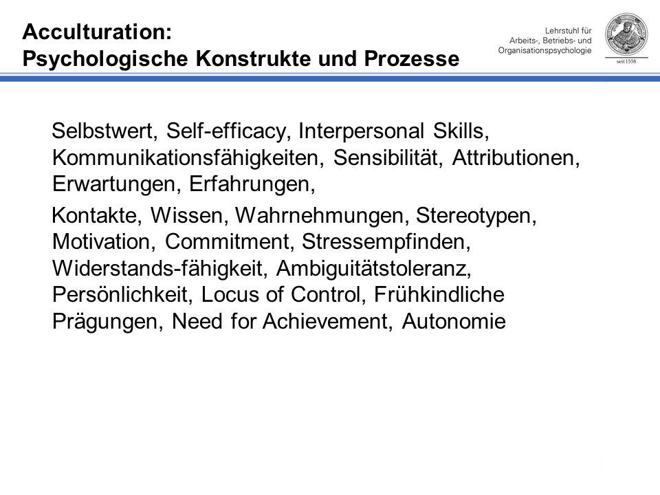 Acculturation: Psychologische Konstrukte und Prozesse