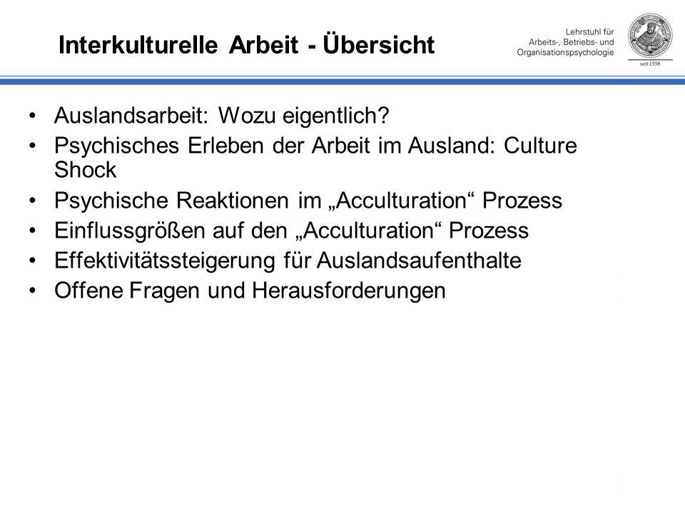 Interkulturelle Arbeit - Übersicht