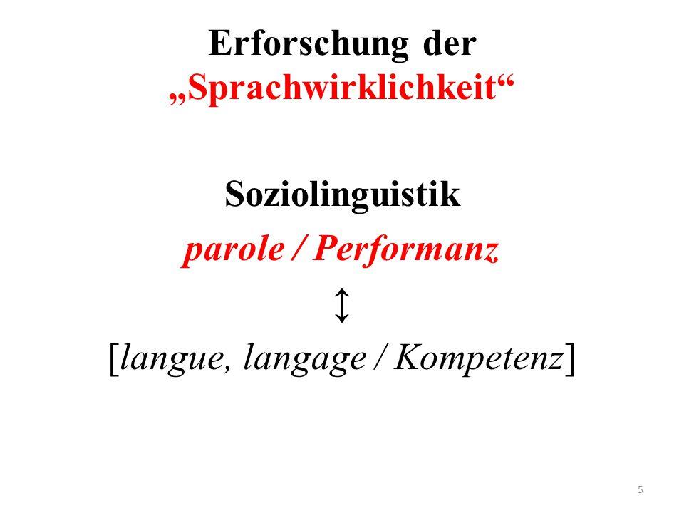 """Erforschung der """"Sprachwirklichkeit"""