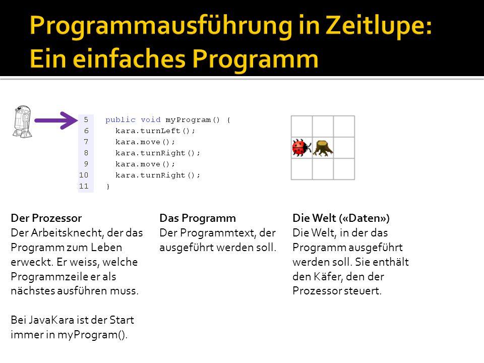 Programmausführung in Zeitlupe: Ein einfaches Programm