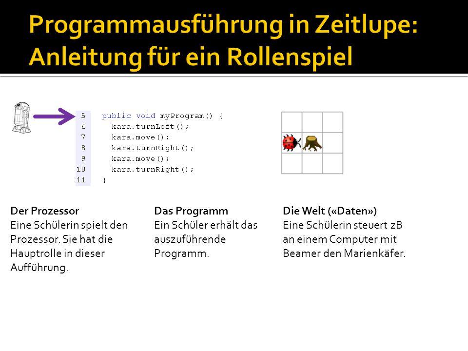 Programmausführung in Zeitlupe: Anleitung für ein Rollenspiel