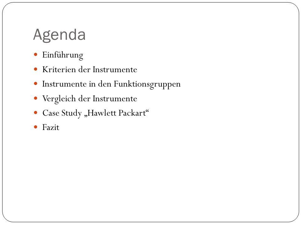 Agenda Einführung Kriterien der Instrumente