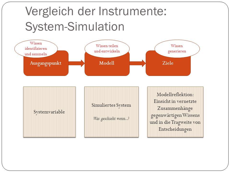 Vergleich der Instrumente: System-Simulation