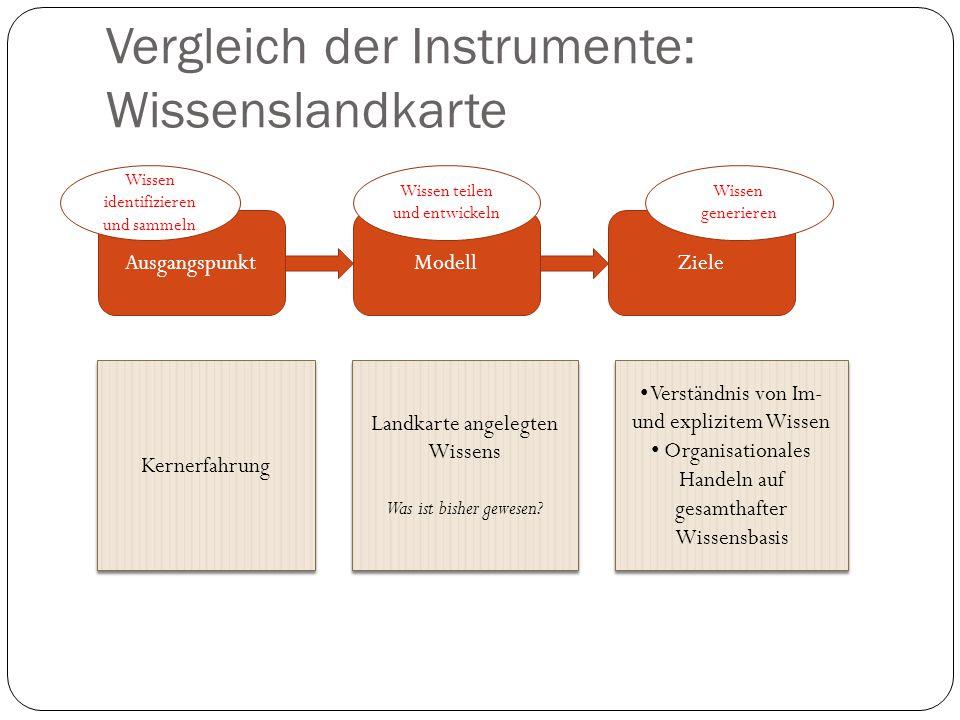 Vergleich der Instrumente: Wissenslandkarte