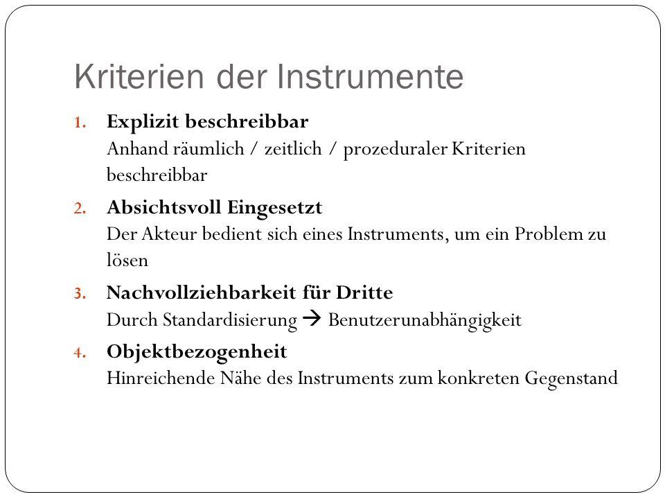 Kriterien der Instrumente