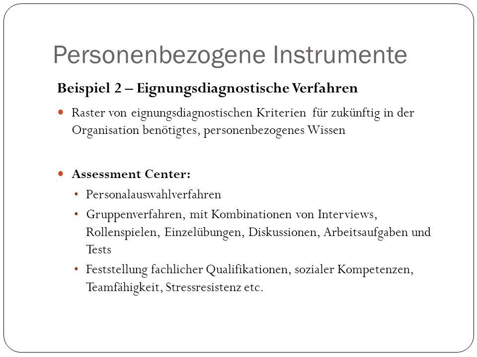 Personenbezogene Instrumente