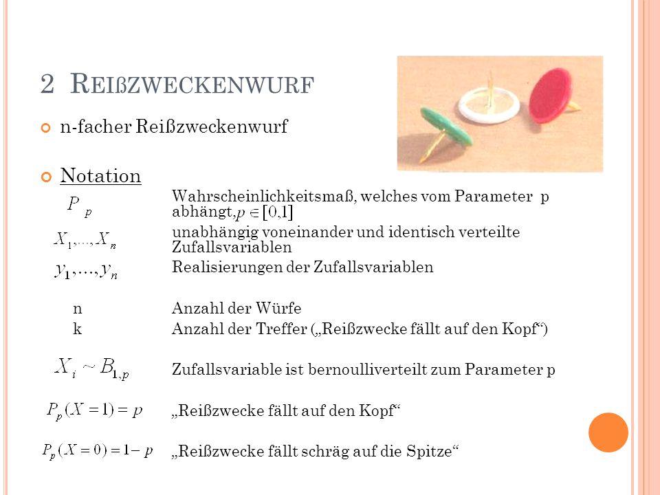 2 Reißzweckenwurf Notation n-facher Reißzweckenwurf