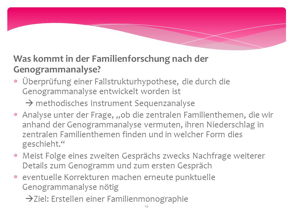 Was kommt in der Familienforschung nach der Genogrammanalyse
