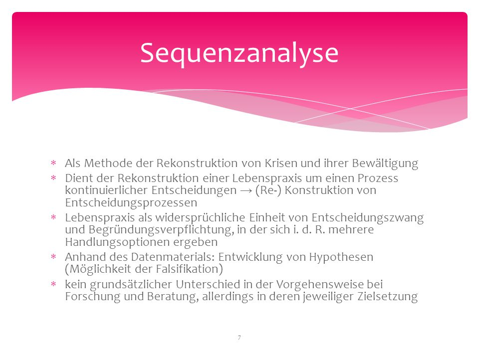 Sequenzanalyse Als Methode der Rekonstruktion von Krisen und ihrer Bewältigung.
