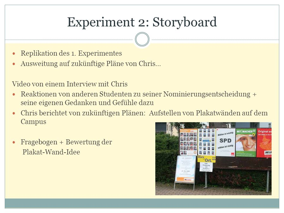 Experiment 2: Storyboard