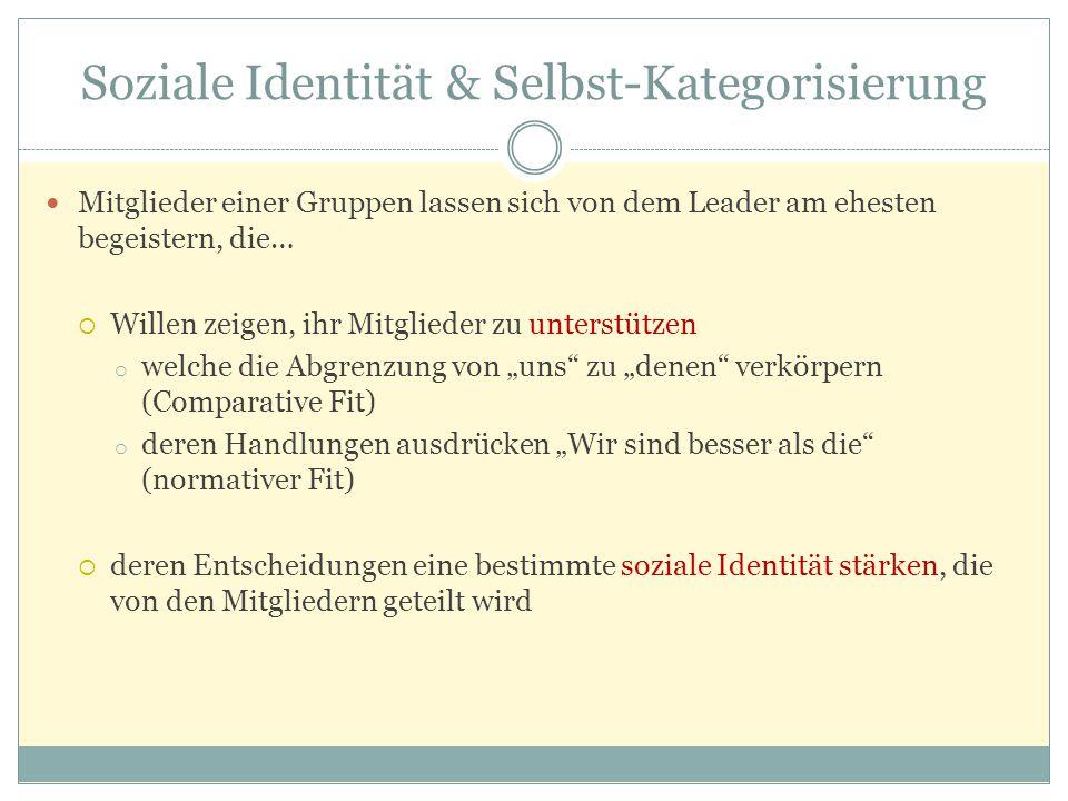 Soziale Identität & Selbst-Kategorisierung