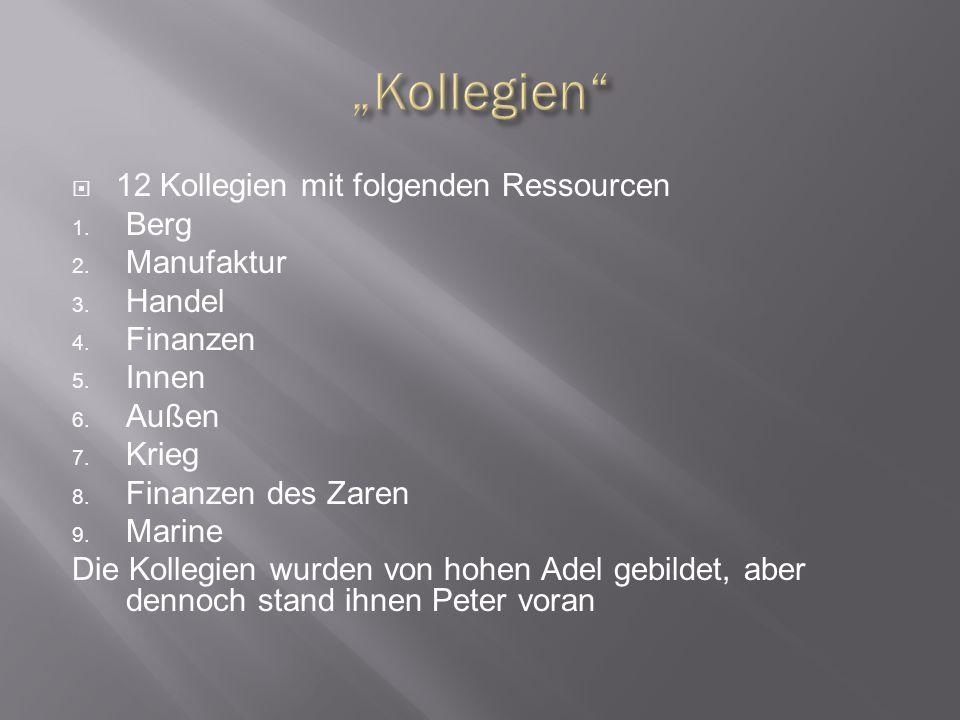"""""""Kollegien 12 Kollegien mit folgenden Ressourcen Berg Manufaktur"""