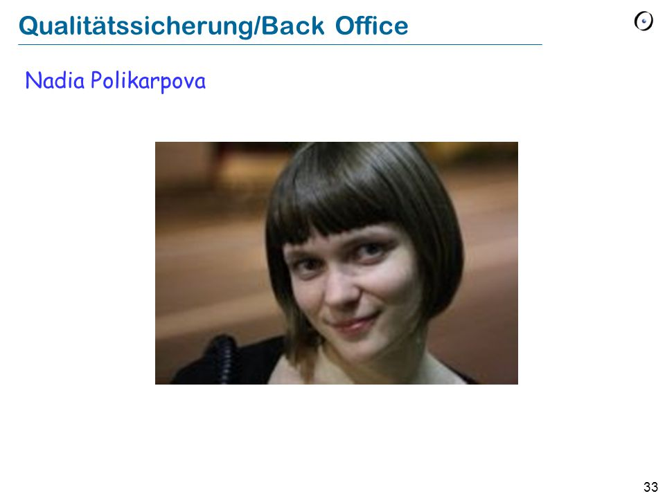 Qualitätssicherung/Back Office