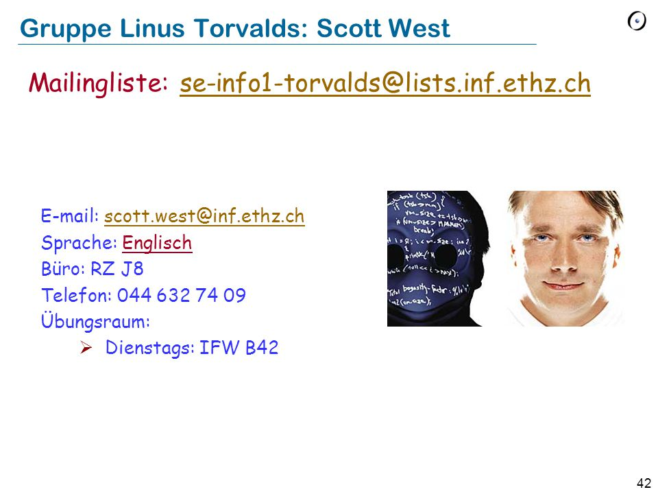 Gruppe Linus Torvalds: Scott West