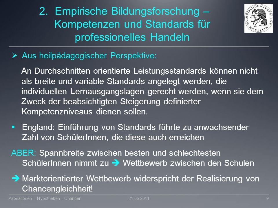 Empirische Bildungsforschung – Kompetenzen und Standards für professionelles Handeln