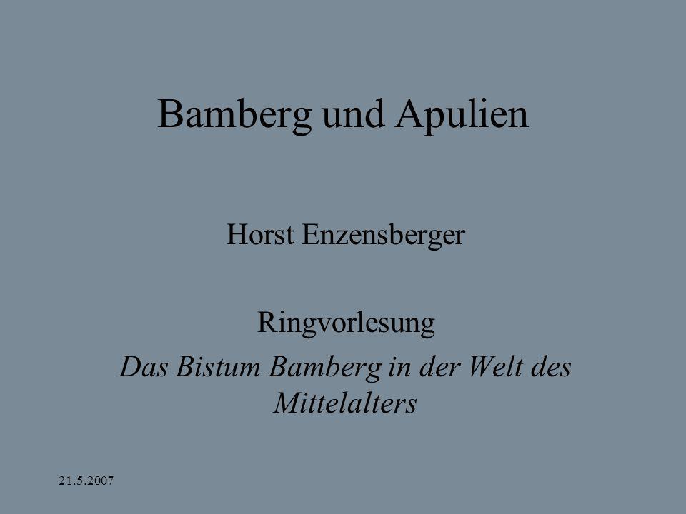 Das Bistum Bamberg in der Welt des Mittelalters