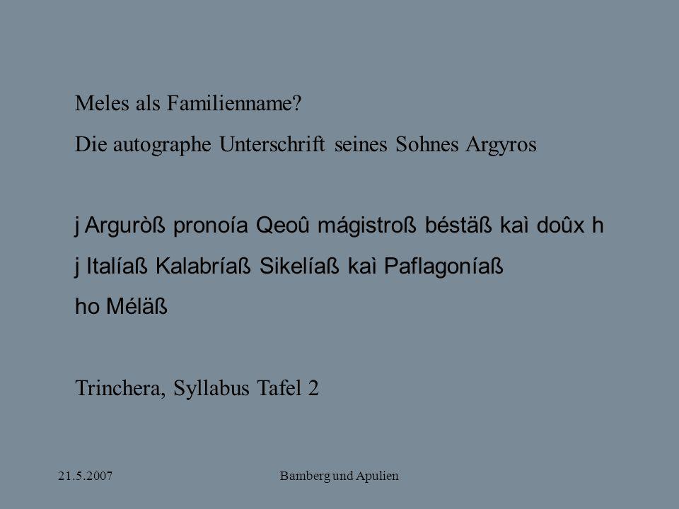 Meles als Familienname