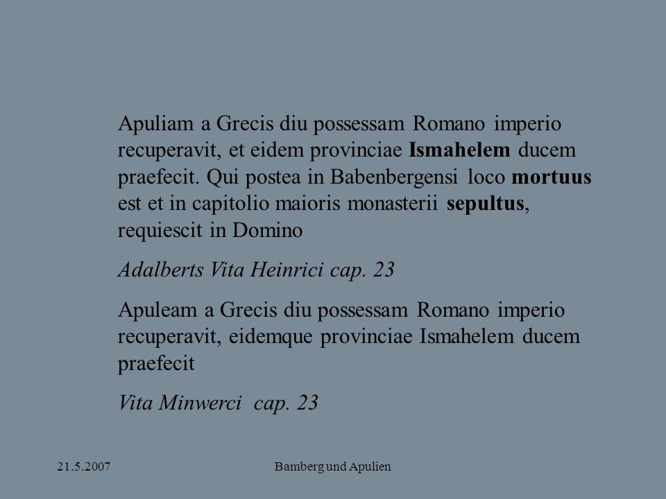 Adalberts Vita Heinrici cap. 23