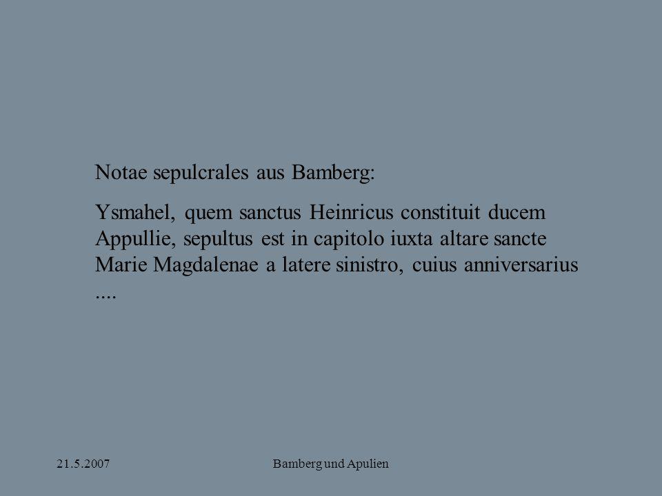 Notae sepulcrales aus Bamberg: