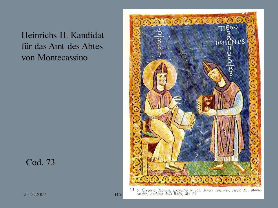 Heinrichs II. Kandidat für das Amt des Abtes von Montecassino