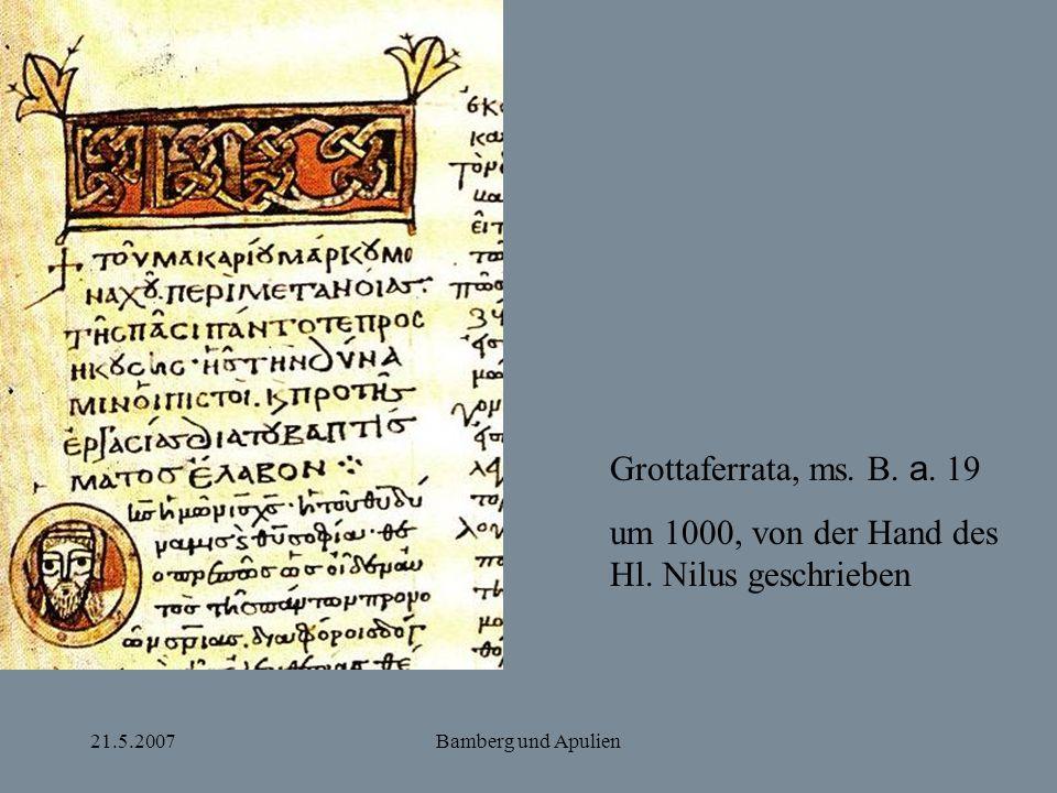 um 1000, von der Hand des Hl. Nilus geschrieben