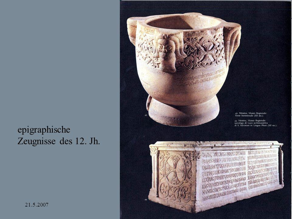 epigraphische Zeugnisse des 12. Jh.