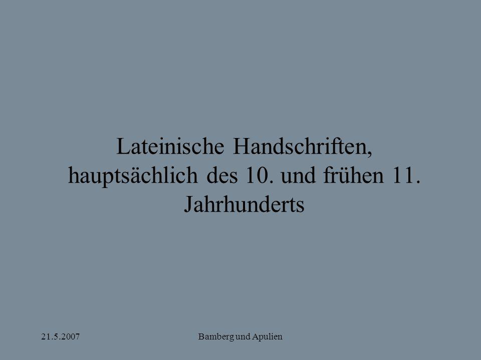 Lateinische Handschriften, hauptsächlich des 10. und frühen 11