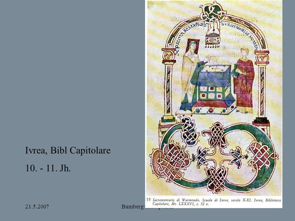 Ivrea, Bibl Capitolare 10. - 11. Jh. 21.5.2007 Bamberg und Apulien