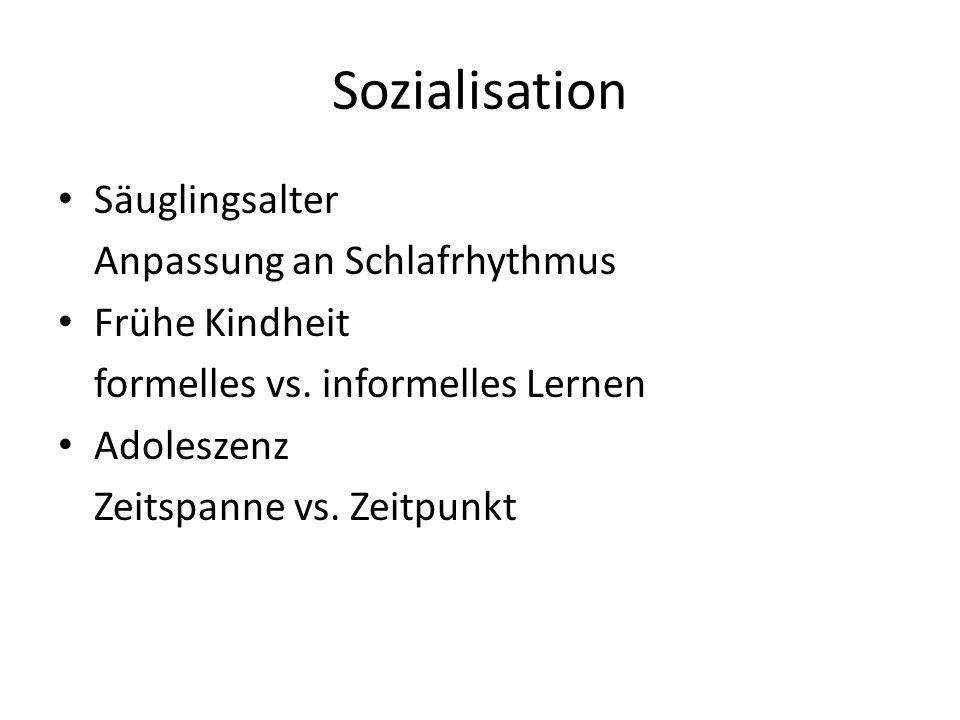 Sozialisation Säuglingsalter Anpassung an Schlafrhythmus