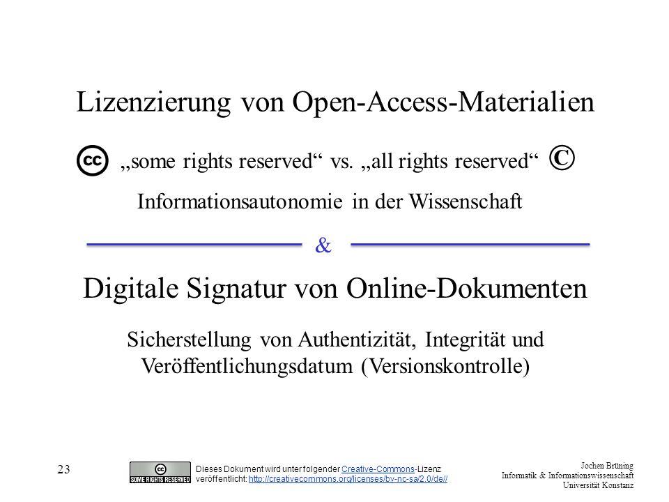 Lizenzierung von Open-Access-Materialien