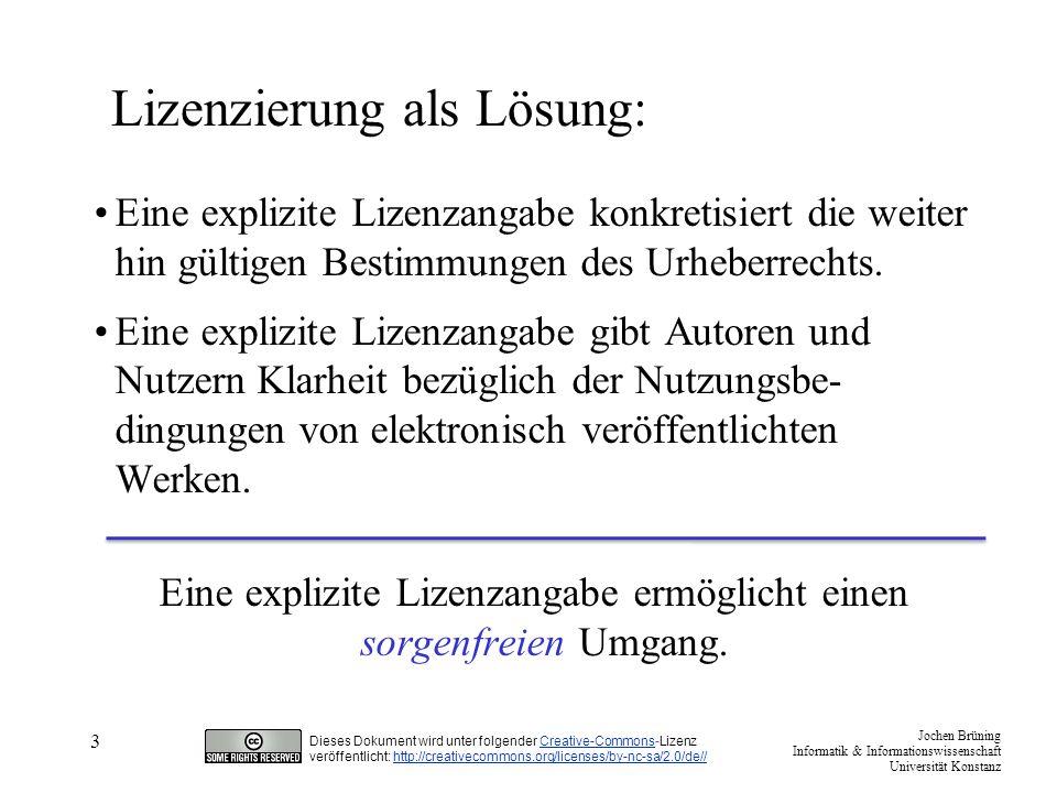 Lizenzierung als Lösung: