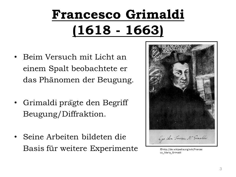 Francesco Grimaldi (1618 - 1663)