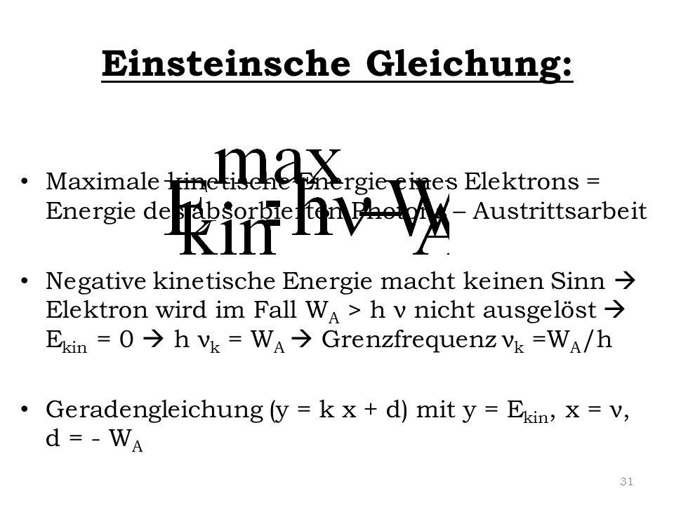 Einsteinsche Gleichung: