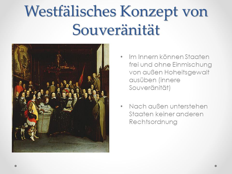 Westfälisches Konzept von Souveränität