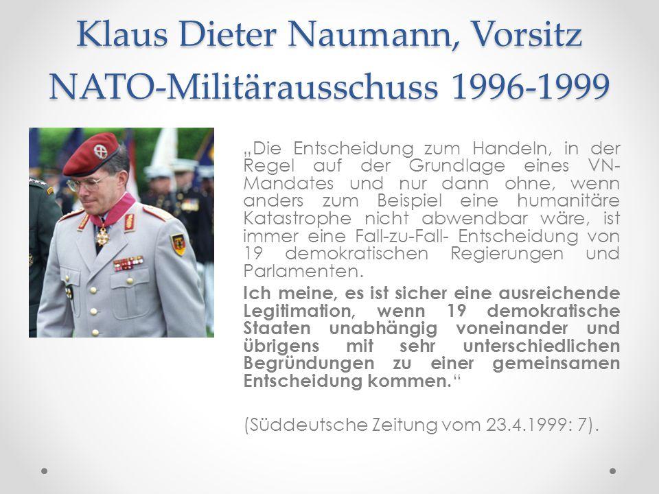 Klaus Dieter Naumann, Vorsitz NATO-Militärausschuss 1996-1999