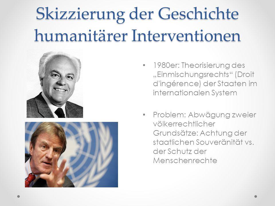 Skizzierung der Geschichte humanitärer Interventionen