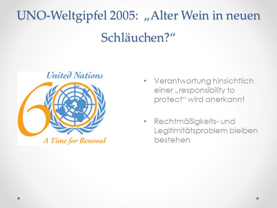 """UNO-Weltgipfel 2005: """"Alter Wein in neuen Schläuchen"""