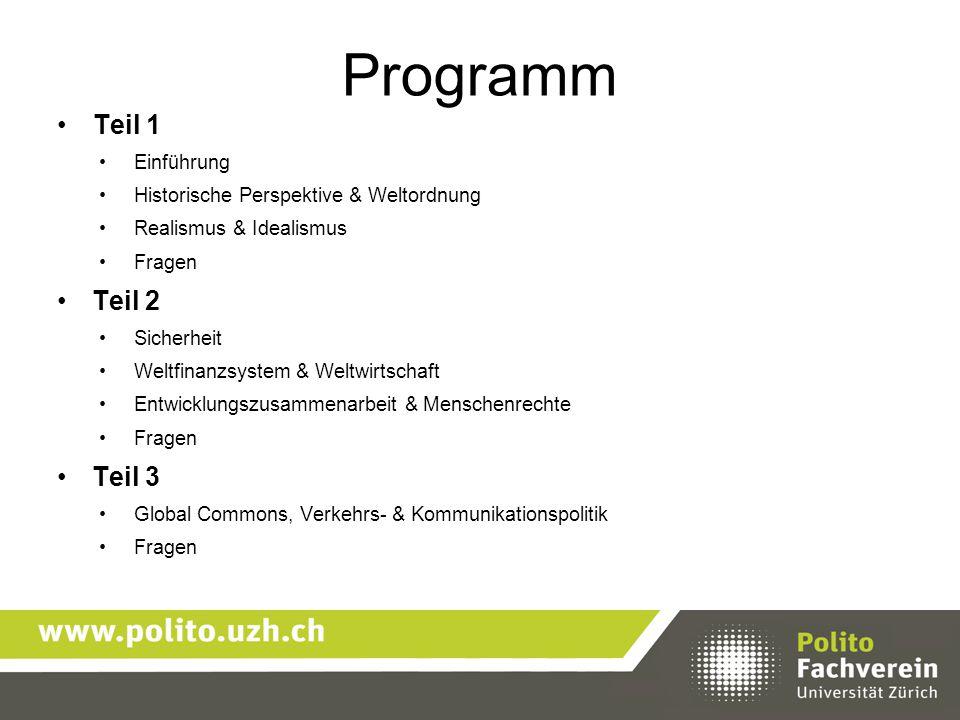 Programm Teil 1 Teil 2 Teil 3 Einführung