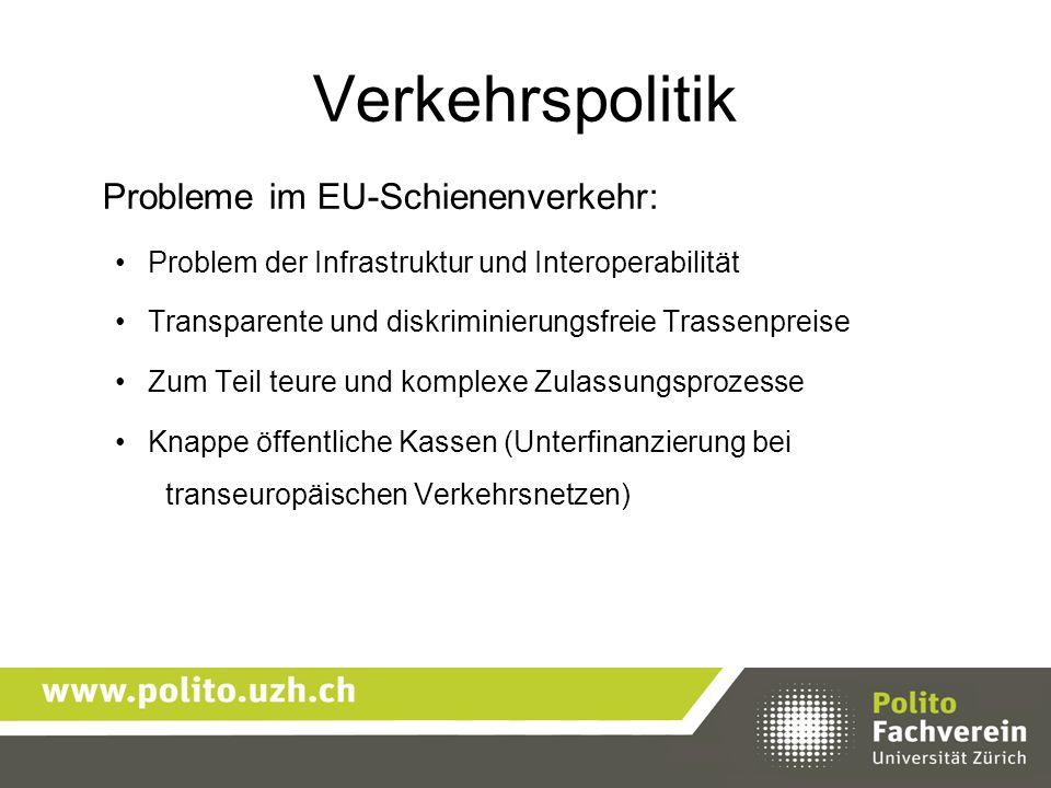 Verkehrspolitik Probleme im EU-Schienenverkehr:
